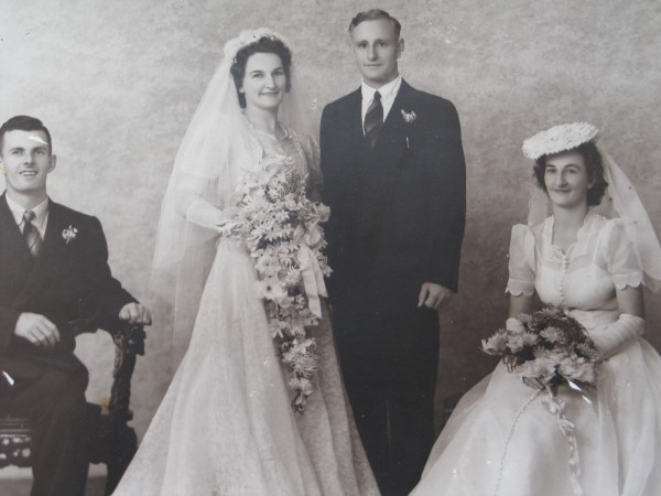 1944 Skitch Berglind wedding
