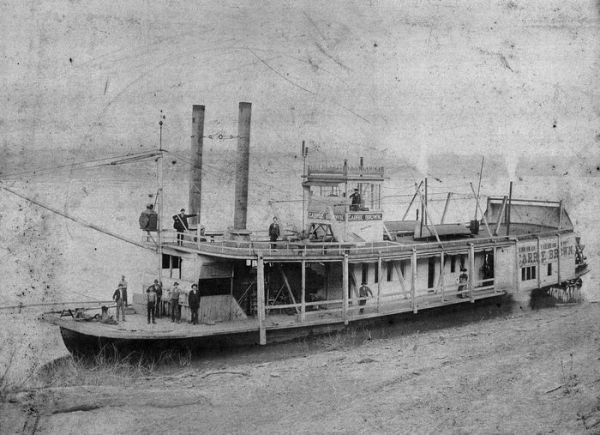 1890 Ohio River Steamboat - Carrie Brown