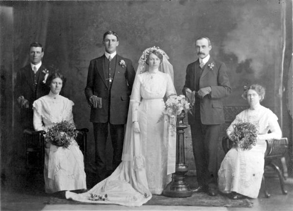 1905 Olive Haines wedding