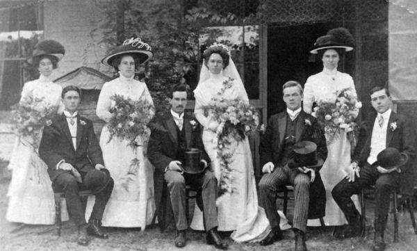 1911 Wedding - Ethel Shepherd, Edgar Horwood
