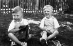1943 13 John birthday - Leslie St - David, John Shepherd