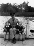 1943 18 River Torrens - David, Alan, John Shepherd