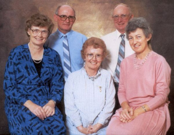 1995 Thelma, Alfred, Mabel, Ron, Heather Boase